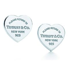 Return to Tiffany™ mini heart tag earrings in sterling silver