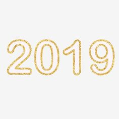 2019numbersnew yearcelebrationpartyholidaywhite textglitter border