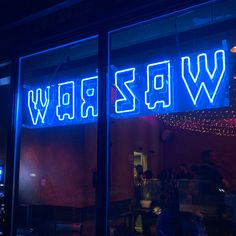 Twin Sister at Warsaw. Obsessed with the type, the neon blue brings out the type even more. Warsaw Guide, Going On A Trip, Bring It On, Let It Be, Twin Sisters, Neon Signs, Type, Design