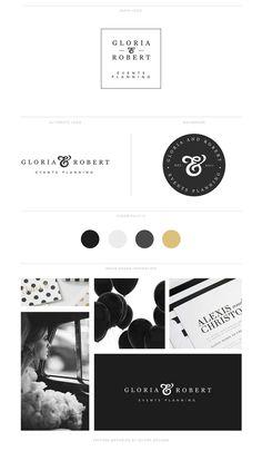 Branding Logo Kit Brand Kit Premade Branding Kit by SeloraDesigns Logo Branding, Branding Your Business, Branding Design, Branding Ideas, Brand Identity, Design Packaging, Business Branding, Corporate Design, Corporate Identity