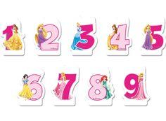 Disney Prinsessat- numerokynttilät