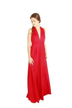 94c94938f 13 mejores imágenes de Rojo Carmesí convertible dress