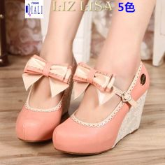 Knot sweet slope with a single shoe lace factory genuine new liz lisa2014 temperament lace detachable butterfly - Taobao
