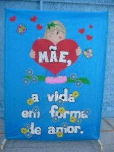 Mural dia das mães 1300 Dad Day, Mom And Dad, Toy Chest, Fathers Day, Storage Chest, Back To School, Origami, Crafts For Kids, Inspiration