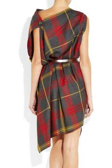Vivienne Westwood Anglomania Rectangle Tartan Wool Dress 3
