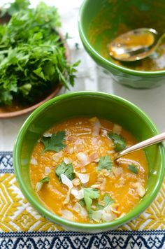 Curried Coconut Carrot Soup | Camille Styles