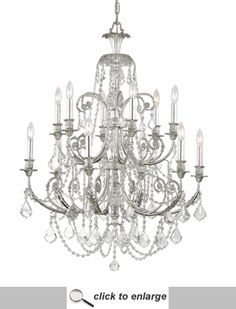 Crystorama Clear Hand Cut Crystal Wrought Iron Chandelier [5119-OS-CL-MWP] only $1,300.00 - Crystal Chandeliers