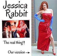 Jessica Rabbit #costume #DIY #Halloween
