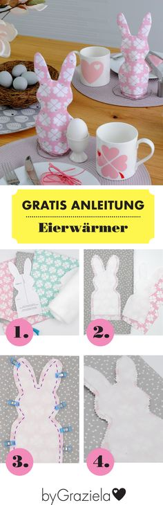 Freesie-Anleitung mit Schnitt: Die perfekte Deko für den Ostertisch und dabei n… Freesia pattern with cut: the perfect decoration for the Easter table and still really practical: the egg warmer in the shape of a rabbit. Home Decor Baskets, Diy Gift Baskets, Decor Crafts, Diy And Crafts, Crafts For Kids, Date Photo, Easter Table, Easter Baskets, Sewing Table