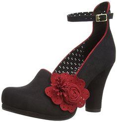 Ruby Shoo Womens Diaz Court Shoes 08641 Black 3 UK, 36 EU
