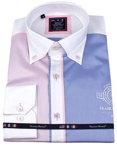 Men's designer shirts - Marina pink blue | UrUNIQUE.com