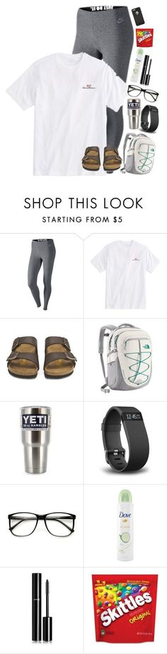 """Recreating my old sets!"" by lacrosse-19 ❤️ liked on Polyvore featuring NIKE, Vineyard Vines, Birkenstock, The North Face, Fitbit, Dove and Chanel"