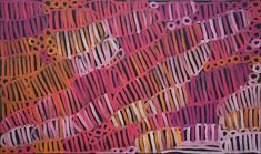 Minnie Pwerle (c1910–2006) famous Aboriginal artist from Utopia, painted Awely Body Painting, buy paintings online at Japingka Gallery, call 61 8 9335 8265