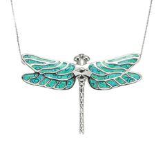 Turquoise Dragonfly Necklace by Adina Plastelina