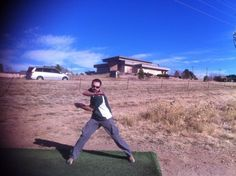 Duane loves disc golf!
