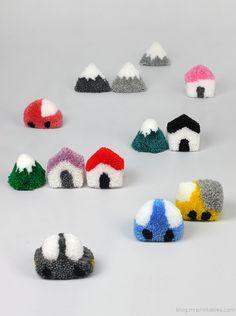 Pompom Cute Set - http://www.decorationhunt.com/other/pompom-cute-set/