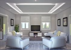30 Unusual Ceiling Designs Ideas For Living Rooms. Awesome 30 Unusual Ceiling Designs Ideas For Living Rooms. If your ceilings are low, it can make a room look smaller and more closed in. Plaster Ceiling Design, Gypsum Ceiling Design, House Ceiling Design, Ceiling Design Living Room, False Ceiling Living Room, Bedroom False Ceiling Design, Ceiling Light Design, Home Ceiling, Home Room Design