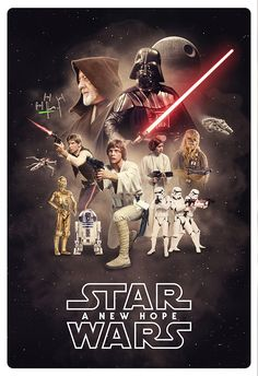 Star Wars: Episode IV - A New Hope tribute poster on Behance