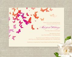 Fluttering Butterflies Wedding Bridal Shower by plushpaper on Etsy