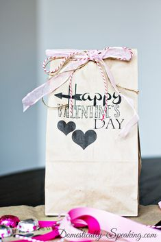 Valentine's Brown Bag Goodie Bag Printable