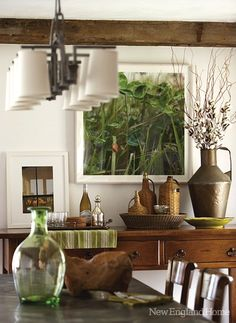 Green with lots of wood and texture. Neutral but not boring. WorthingCourtBlog.com