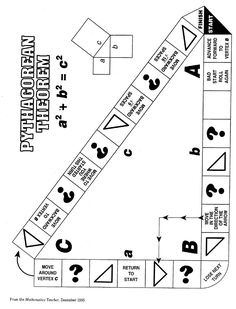 - Pythagorean Theorem Game … Pythagorean Theorem Game More - Math 8, Math Teacher, Math Classroom, 8th Grade Math Games, First Grade Worksheets, Free Kindergarten Worksheets, Worksheets For Kids, Printable Worksheets, Printables