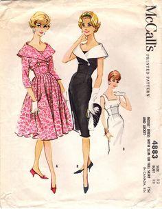 4883 costura Vintage patrón echa de menos de los por midvalecottage