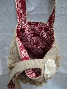 Burlap Ruffle Bag...maybe someday I can make one for myself