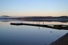 Misty lake Alasjärvi Finland 09/15