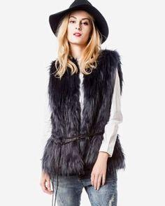 Vesta blana artificiala femei Fur Coat, Casual, Jackets, Fashion, Lady, Down Jackets, Moda, Fashion Styles, Fashion Illustrations