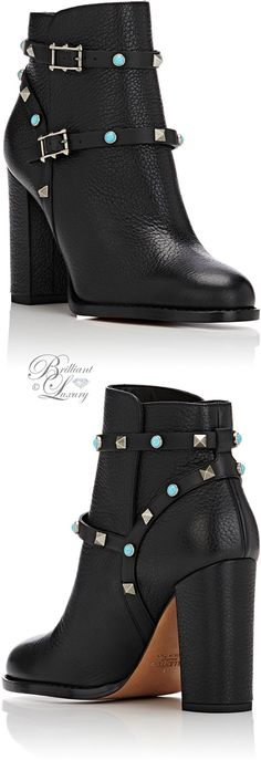 Brilliant Luxury by Emmy DE ♦Valentino Rockstud Rolling Ankle Boots