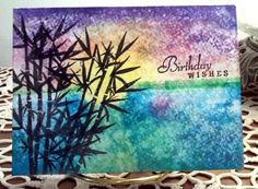 brayered ink sunset. bamboo stamp, by GeorgiaBabydoll - Cards and Paper Crafts at Splitcoaststampers