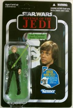 Amazon.com: Star Wars 3.75 inch Vintage Figure Jedi Luke: Toys & Games