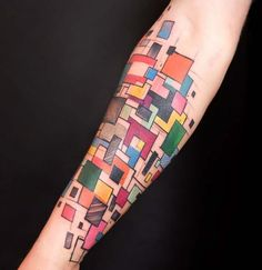 Colorful Abstract Tattoo
