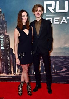 Co-stars: Turning heads in a sleek keyhole dress, Kaya was joined by Love Actually actor T...