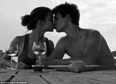 Making memories: Ansel shared a sweet moment to his 6.2 million Instagram followers, captioning it: 'I love celebrating Valentine's Day with Violetta'