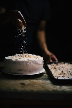 Cardamom and Toasted Coconut Cake