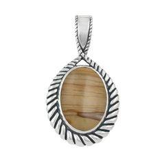 Sterling Silver Oregon Owyhee Sunset Jasper Pendant Enhancer ** CHECK OUT @ http://www.finejewelry4u.com/jewelry100/13244/?353