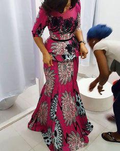 ~ DKK~ Join us for Latest African fashion* Ankara* kitenge* African women dresses* Bazin* African prints* African men's fashion* Nigerian style* Ghanaian fashion African Dresses For Women, African Print Dresses, African Attire, African Wear, African Fashion Dresses, African Women, African Prints, Ankara Fashion, African Inspired Fashion