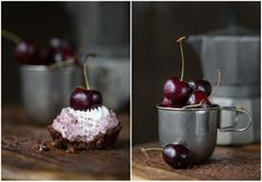 The Urban Poser:: Cherry Cream Pies w/ Chocolate Macaroon Crust (Nut/Grain/Dairy/Egg Free)
