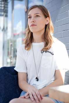 A simple white T-shirt is an essential building block for good style