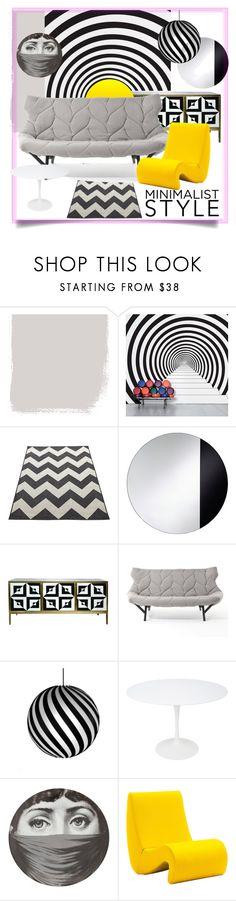 """minimalist style"" by ririrara ❤ liked on Polyvore featuring interior, interiors, interior design, home, home decor, interior decorating, DOMESTIC, Kartell, David Trubridge and Knoll"