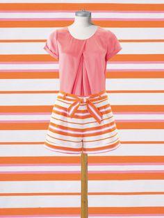 Burda pleated blouse pattern for beginners