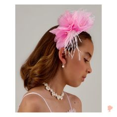 New collection coming out and this is one of our favorites so far! 💖 What do you think? 🌸 Party Accessories, Wedding Hair Accessories, Girls Accessories, Fashion Accessories, Flower Girl Hairstyles, Wedding Hairstyles, Hair Garland, Kids Branding, Pretty In Pink