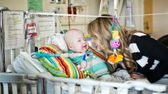 """Doctors Use Printing To Help A Baby Breathe! Garrett shares a moment with his mother, Natalie Peterson. """"He's been smiling. 3d Printing Business, 3d Printed Objects, Baby Care, Science And Technology, 3d Printer, Breathe, Baby Strollers, 3 D, Tourism"""