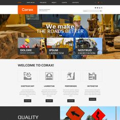 Website Theme for Corax Website