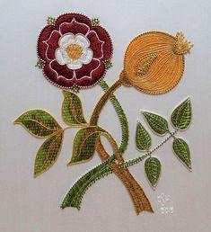 Gold Embroidery, Embroidery Designs, Gold Work, Pomegranate, Textile Art, Pattern Ideas, Patterns, Needlework, Applique