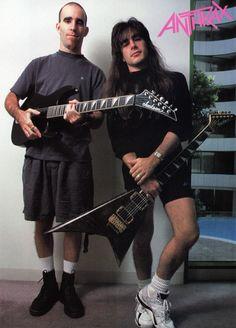 Scott Ian with Dan Spitz