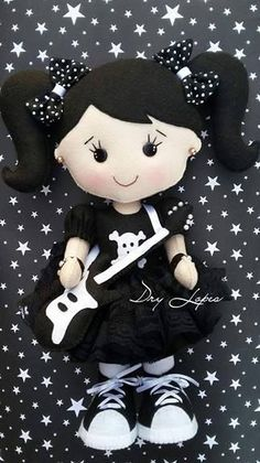 Free felt doll pattern rock star doll