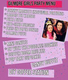 Gilmore Girls party menu ideas